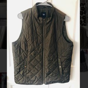 GAP Olive colored Fall/Winter Vest